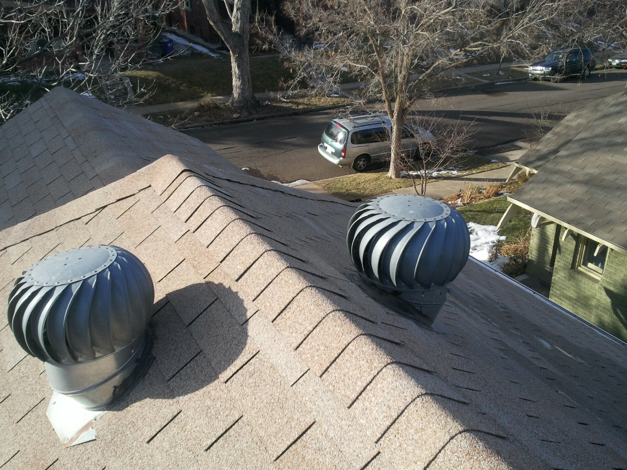 Turbine Roof Ventilators : Balanced roof ventilation a must r roofing llc
